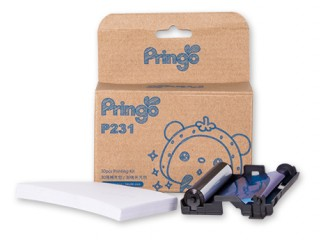 Sticker para impresora Pringo P231 (Silver) - 30pzas