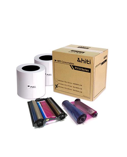 """Consumible HiTi, modelo P330, para impreseora P510S, formato 6x8"""", para 330 fotos, contiene 2 bobinaspara 165 fotos cada una, incluye ribbon y papel"""