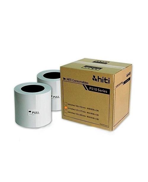"Consumible HiTi modelo P380, 5x7"", para impresora HiTi P510S, 2 bobinas para 190 impresiones cada una, total 380 fotos,"